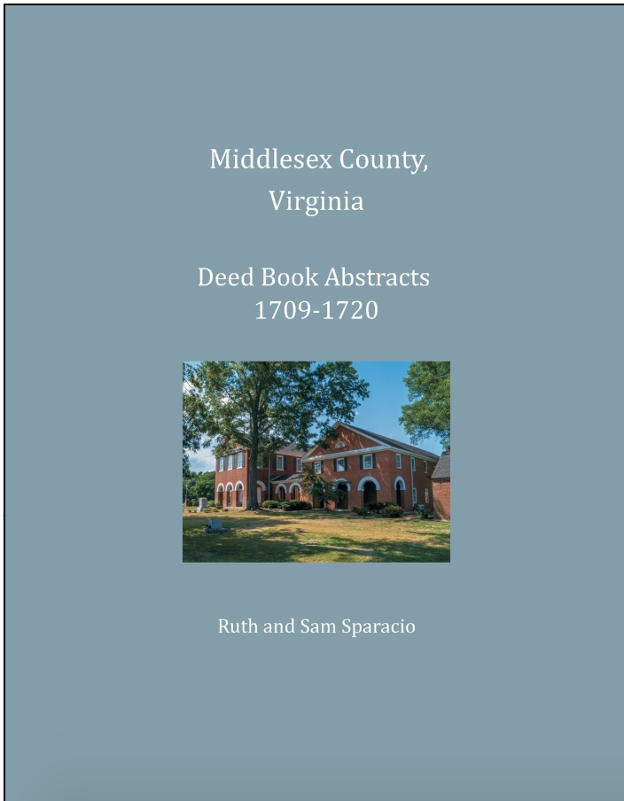 Middlesex County Virginia Deed Book 1709-1720
