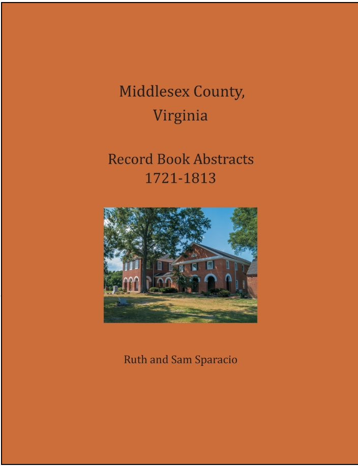 Middlesex County Virginia Record Book 1721-1813