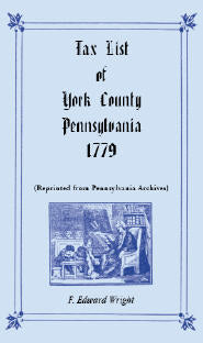 Tax List of York County, Pennsylvania 1779