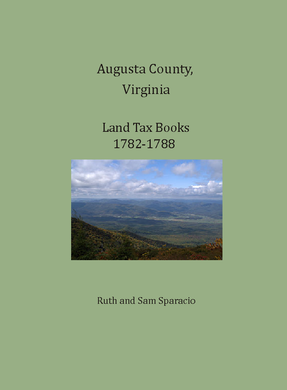 Augusta County, Virginia Land Tax Books, 1782-1788