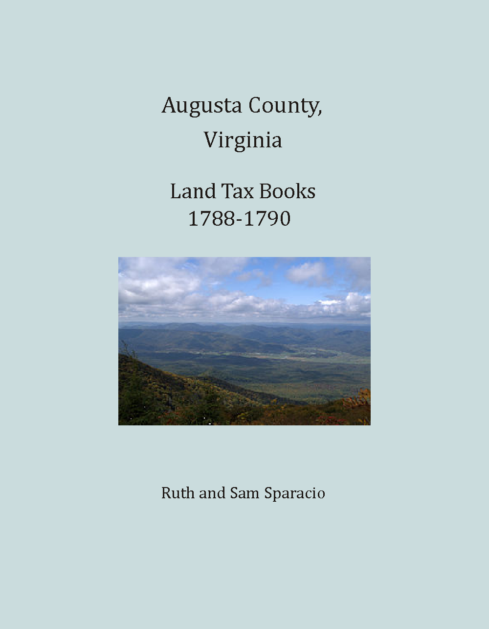 Augusta County, Virginia Land Tax Books, 1788-1790
