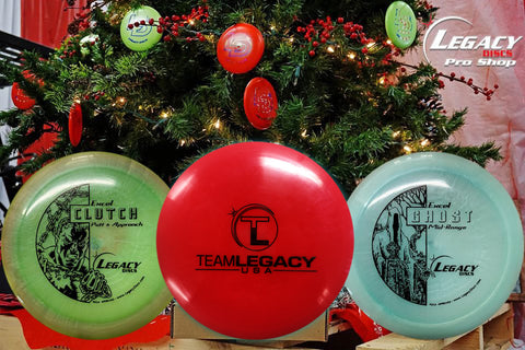 3 Disc Christmas Mystery miss print Box with Team Legacy stamp