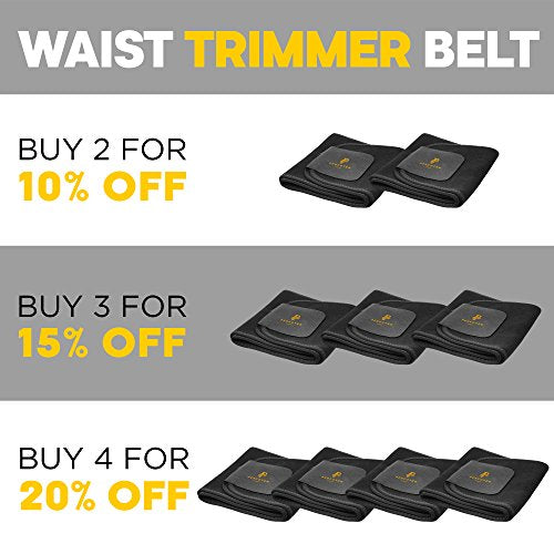 Perfotek Waist Trimmer Belt with Sauna Suit Effect