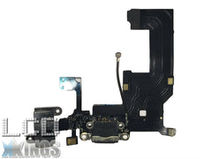 Apple Iphone 5 Black Charging Port Dock Connector, Headphone Jack and MIC Flex