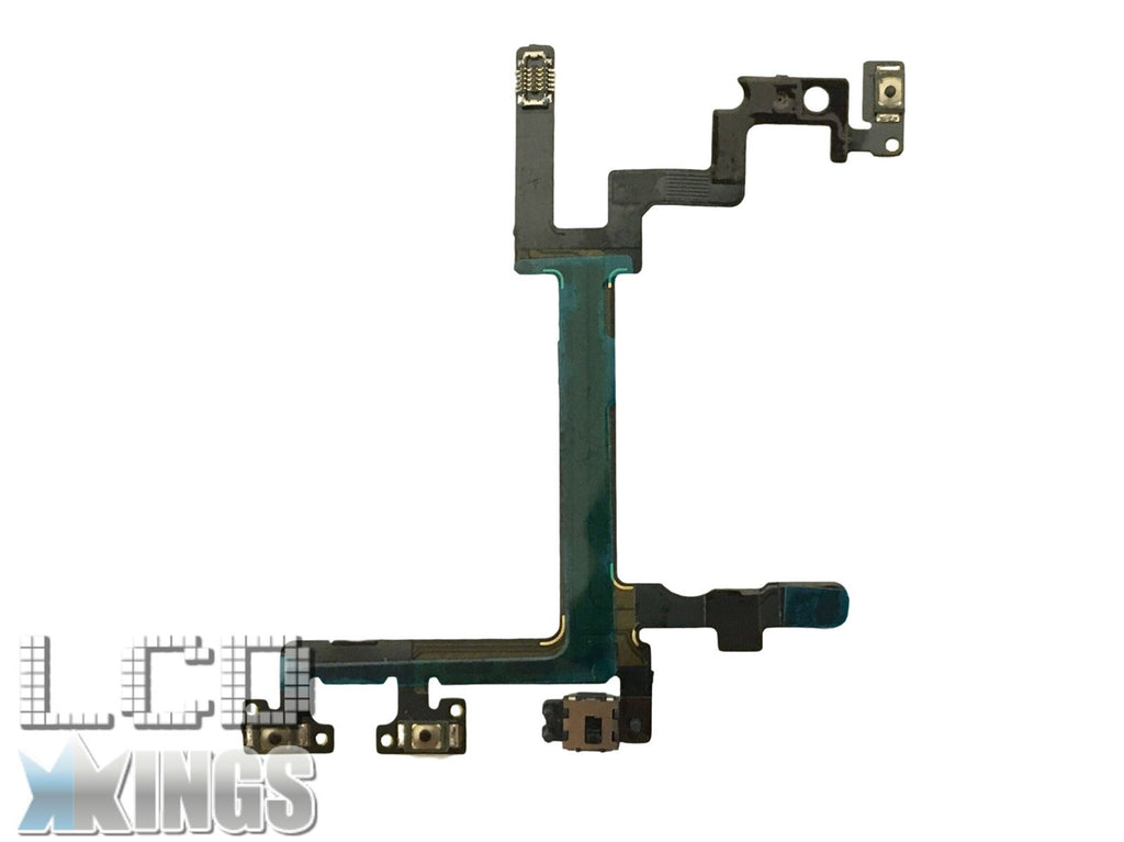 Apple Iphone 5G Power, Volume & Mute Button Flex Cable With Brackets