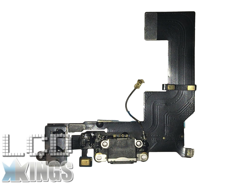 Apple Iphone 5S Black Charging Port Dock Connector, Headphone Jack and MIC Flex