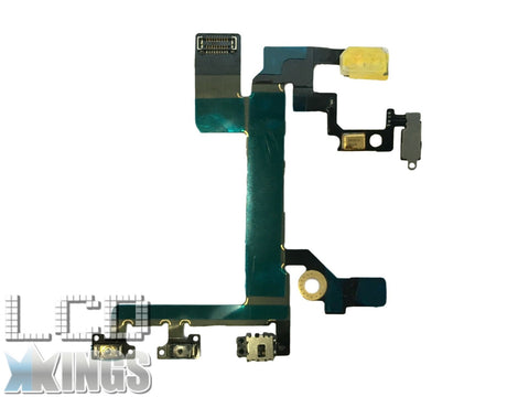 Apple Iphone 5S Power Flex Cable - MUTE SWITCH - Volume BUTTONS With Brackets