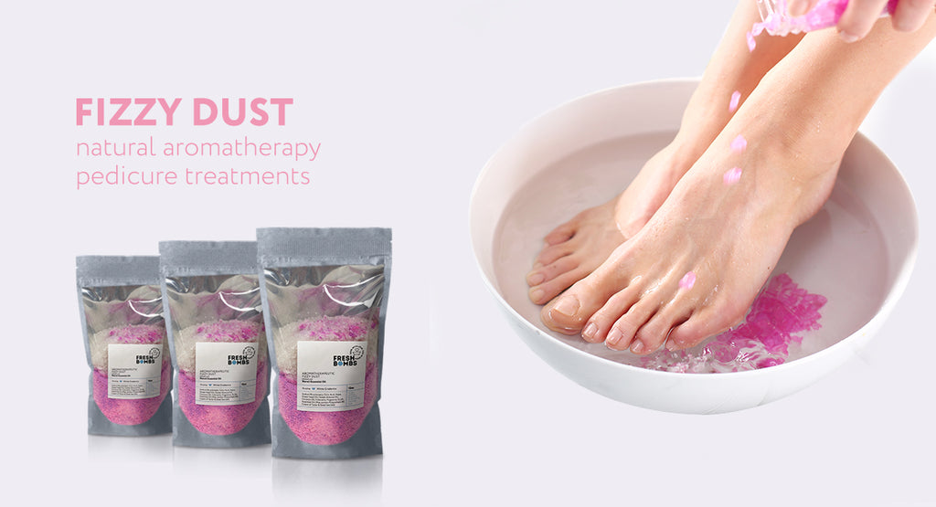 Pedicure dust treatments