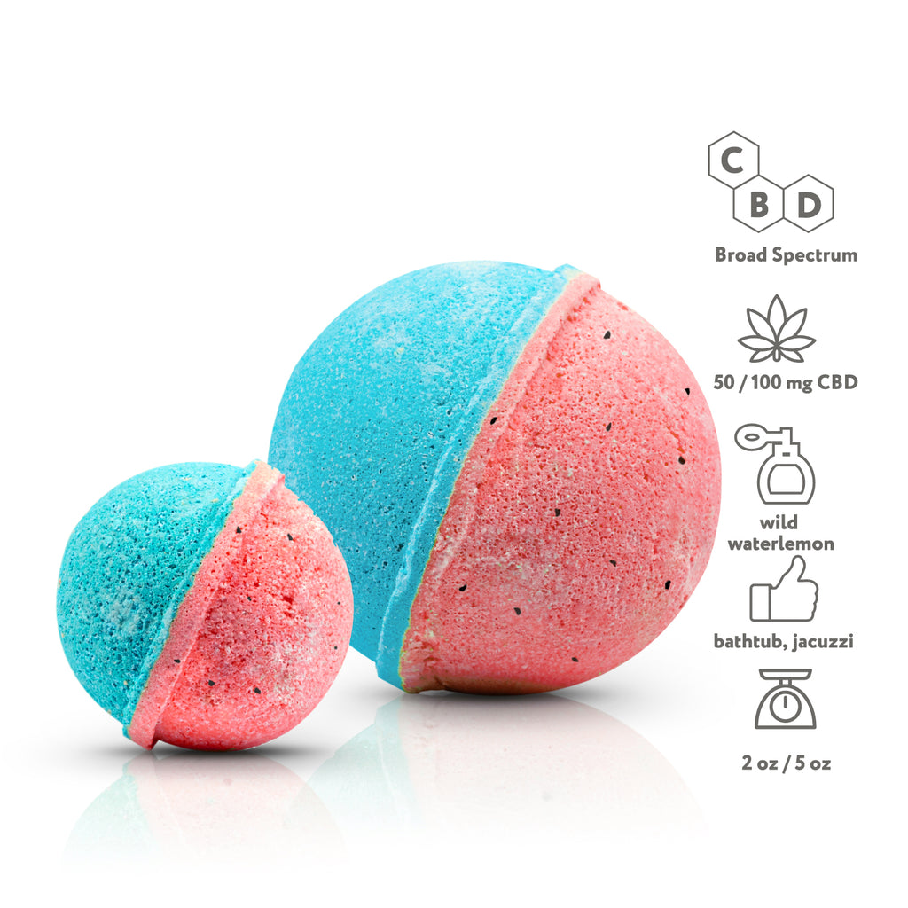 CBD Bath bombs- With a recyclable package
