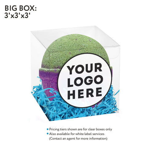 Image of Clear box- 5oz Bath bomb - Accessories - Fresh Bombs - fresh-bombs