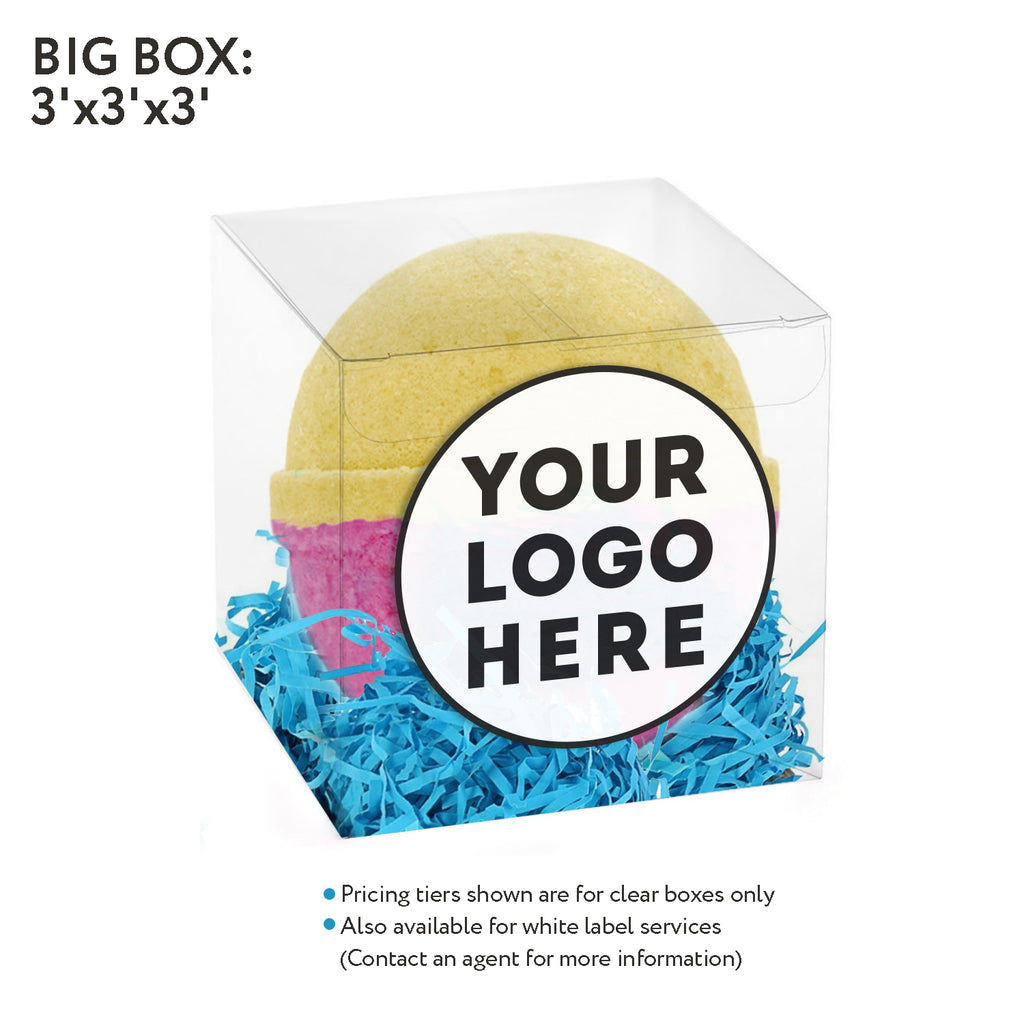 Clear box- 5oz Bath bomb - Accessories - Fresh Bombs - fresh-bombs