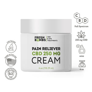 CBD Pain Reliever Cream -  - Fresh Bath Bombs - fresh-bombs