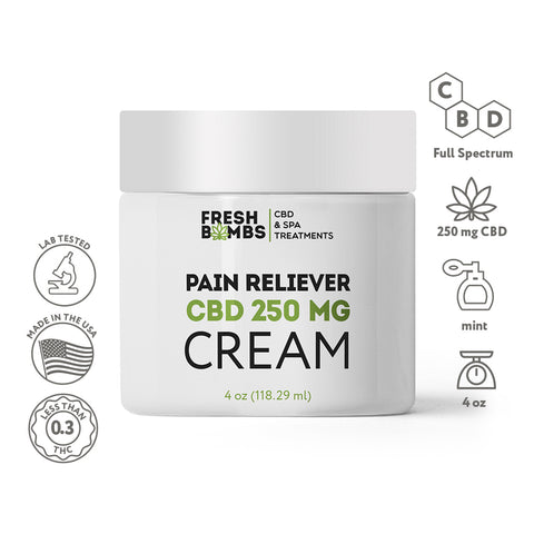 Image of Bulk CBD Pain Reliever Cream -  - Fresh Bath Bombs - fresh-bombs