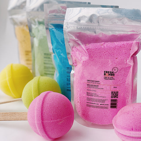 Bulk CBD Bath Fizzy dust -  - Fresh Bath Bombs - fresh-bombs