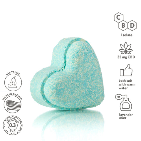CBD Bath bombs set- Heart shape- 6 pack - Wholesale - Fresh Bombs - fresh-bombs