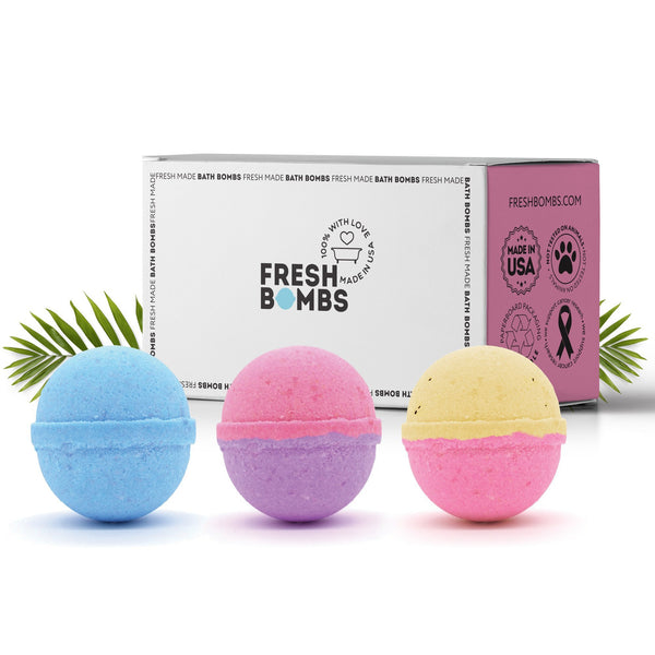 Pedi fizzies- 3 pack - Pedi Mani Fizzies - PediMani - Fresh Bath Bombs