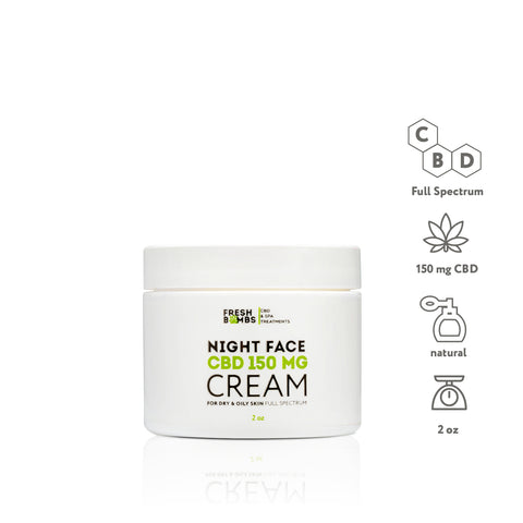 CBD Night Cream - CBD Face - Fresh Bath Bombs - fresh-bombs