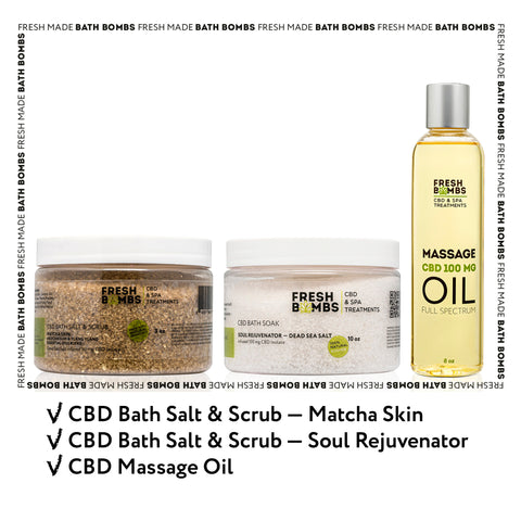 CBD Spa Retreat pack - CBD Variety packs - Fresh Bombs - fresh-bombs