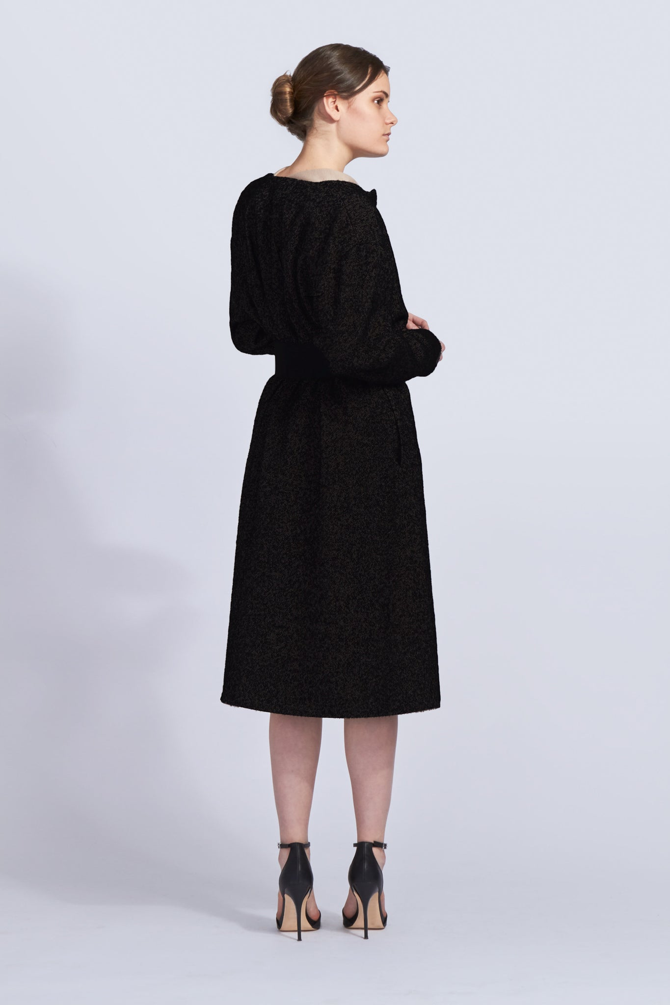 Knee Length Cinched Coat
