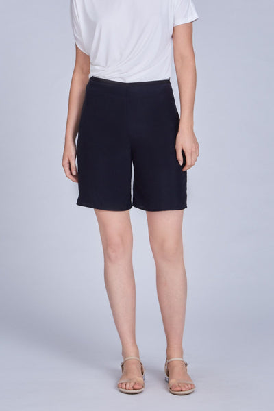 Leinad dress Straight Leg Cupro Shorts | Black - alltrueist - vegan