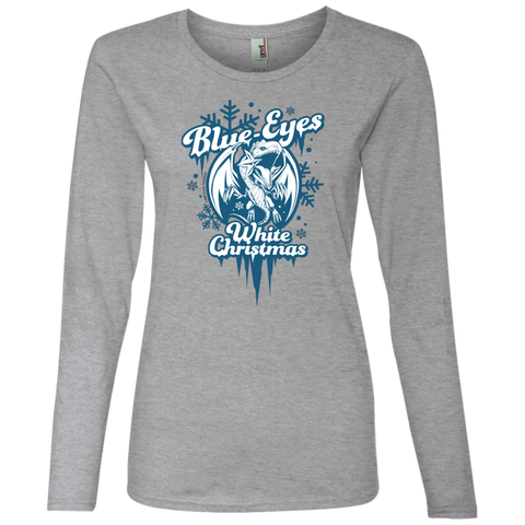 Blue-Eyes White Christmas Anvil Ladies' Lightweight LS T-Shirt