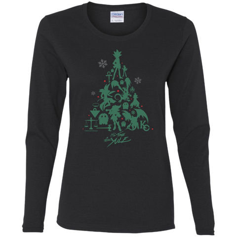 It's Time for Yule! Gildan Ladies' Cotton LS T-Shirt