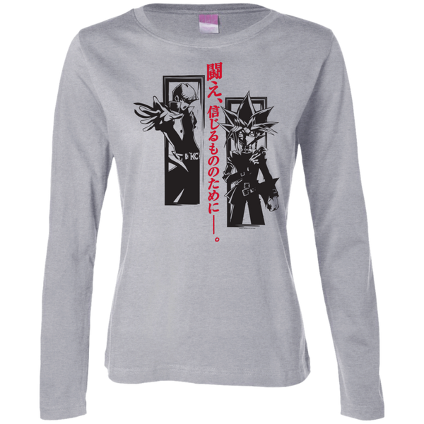 Dark Side Duel Ladies Long Sleeve Cotton TShirt