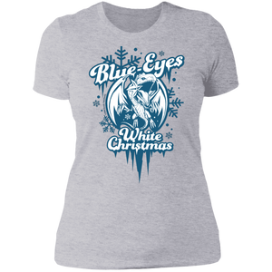 Blue-Eyes White Christmas Next Level Ladies' Boyfriend T-Shirt