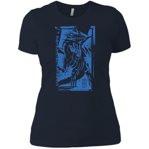 Blue-Eyes White Dragon - Next Level Ladies' Boyfriend T-Shirt