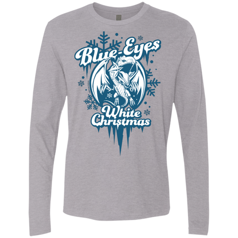 Blue-Eyes White Christmas Next Level Men's Premium LS