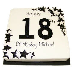 18th Birthday Cake - Last minute cakes delivered tomorrow!