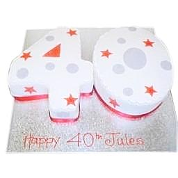 Surprising 40Th Birthday Cake Buy Online Free Uk Delivery New Cakes Funny Birthday Cards Online Elaedamsfinfo