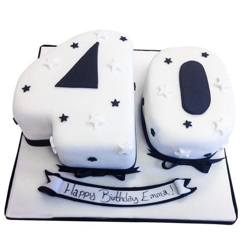 40th Birthday Cake - Last minute cakes delivered tomorrow!