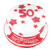 50th Birthday Cake - Last minute cakes delivered tomorrow!