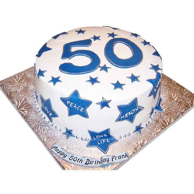Surprising 50Th Birthday Cake Buy Online Free Uk Delivery New Cakes Personalised Birthday Cards Bromeletsinfo