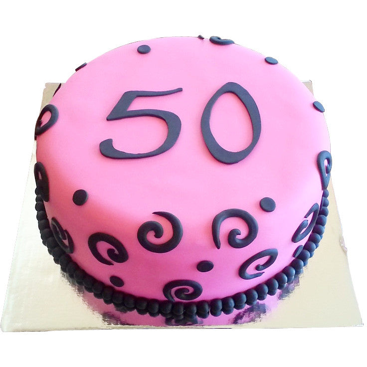 50th Birthday Cake 6495 Buy Online Free Uk Delivery New Cakes