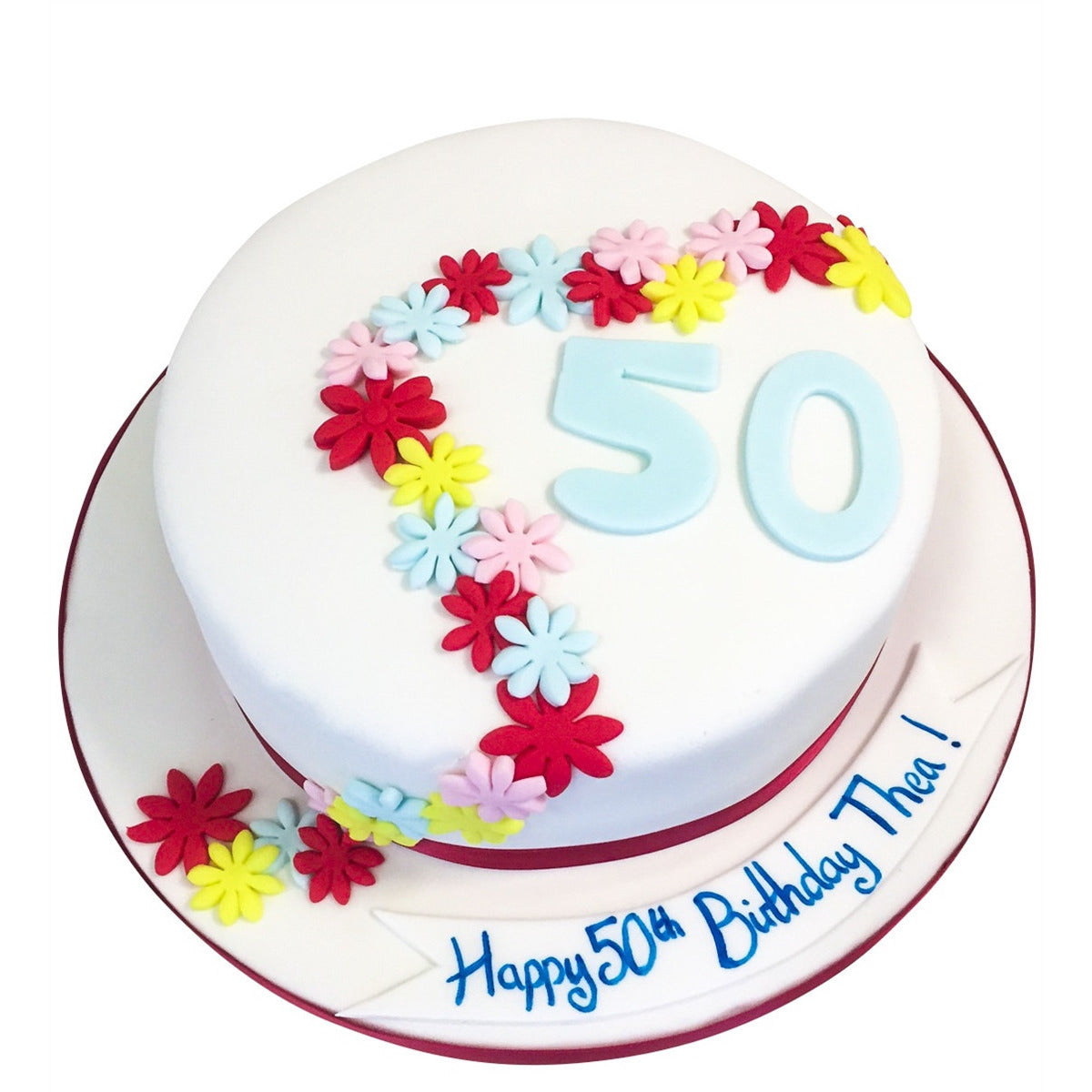 Astounding 50Th Birthday Cake Buy Online Free Uk Delivery New Cakes Funny Birthday Cards Online Alyptdamsfinfo