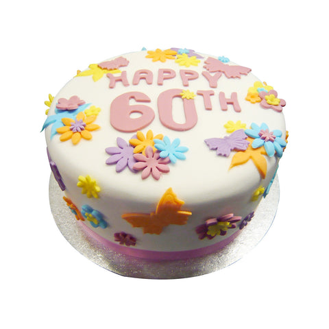 60th Birthday Cake - Last minute cakes delivered tomorrow!