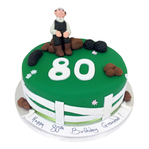 80th Birthday Cake - Last minute cakes delivered tomorrow!