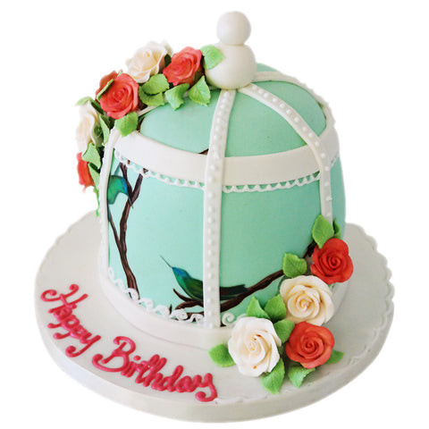 Vintage Bird Cage - Last minute cakes delivered tomorrow!