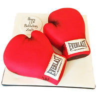 Boxing Gloves cake - Last minute cakes delivered tomorrow!