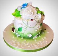 Garden flowers cake - Last minute cakes delivered tomorrow!