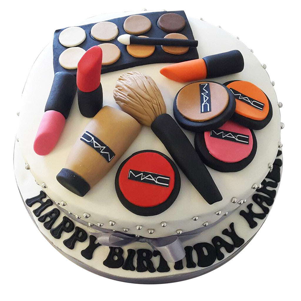 Marvelous Mac Makeup Cake Free Next Day Delivery New Cakes Personalised Birthday Cards Sponlily Jamesorg