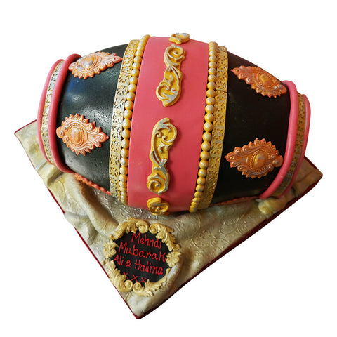 Mendhi Drum Cake - Last minute cakes delivered tomorrow!