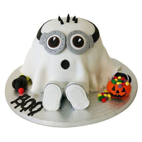 Minion Ghost Cake - Last minute cakes delivered tomorrow!