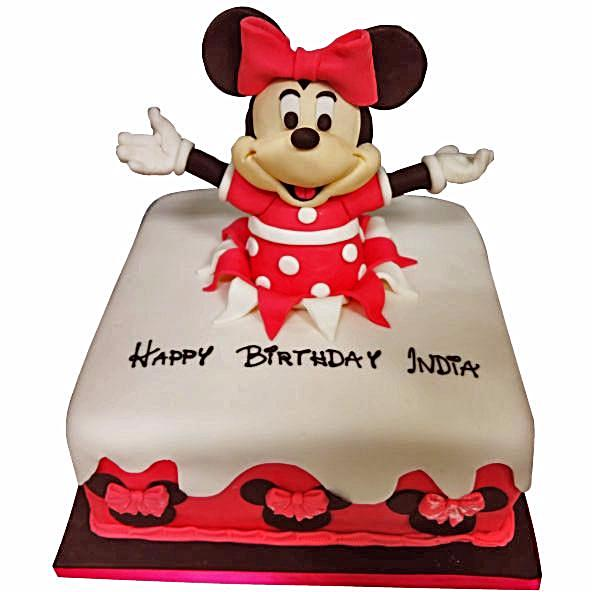 Amazing Minnie Mouse Cake Buy Online Free Next Day Delivery New Cakes Funny Birthday Cards Online Overcheapnameinfo