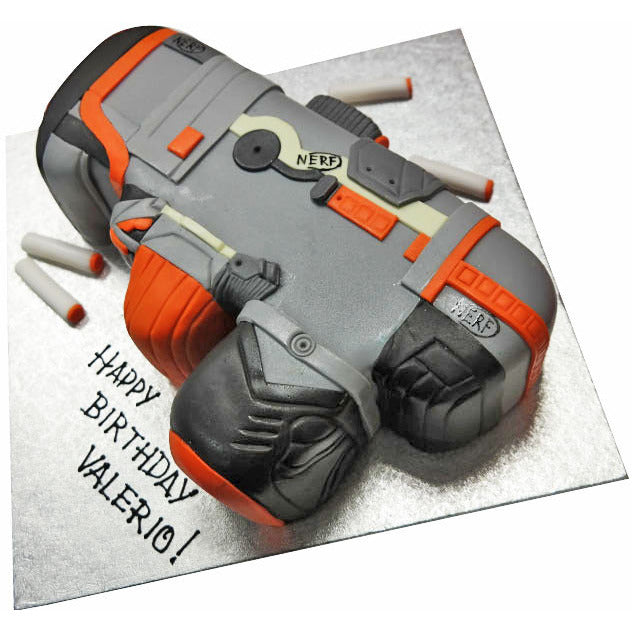 Astounding Nerf Gun Cake Buy Online Free Uk Delivery New Cakes Personalised Birthday Cards Veneteletsinfo