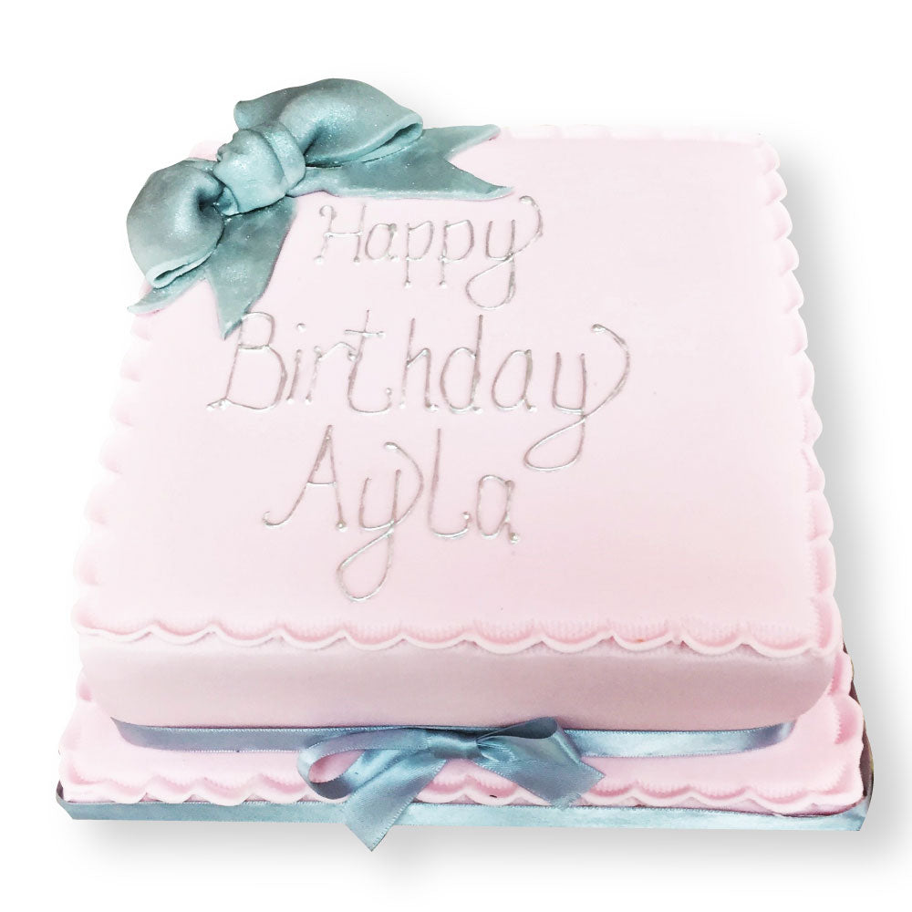 Sensational Pretty Bow Cake Free Nationwide Delivery New Cakes Funny Birthday Cards Online Alyptdamsfinfo