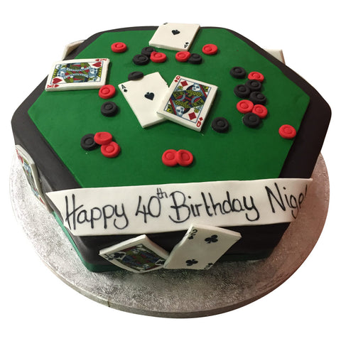 Poker Cake - Last minute cakes delivered tomorrow!
