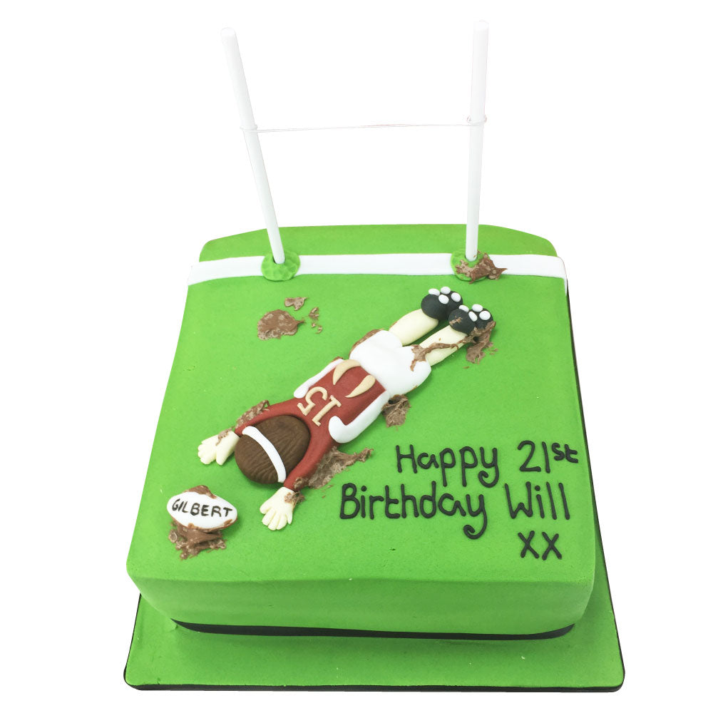 Marvelous Rugby Cake 89 95 Buy Online Free Uk Delivery New Cakes Personalised Birthday Cards Sponlily Jamesorg